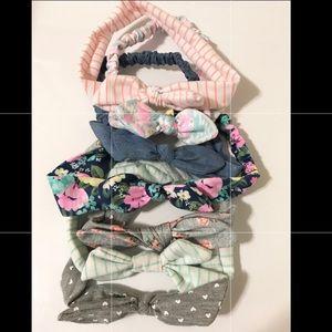 7 Piece Baby/Toddler Girl Headwraps